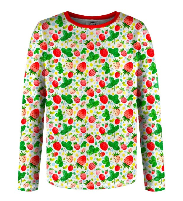 Strawberries Pattern Kinder Langarmshirt Miniaturbild 1