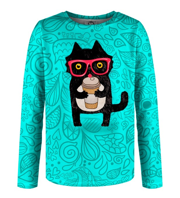 Coffee Cat Kinder Langarmshirt Miniaturbild 1