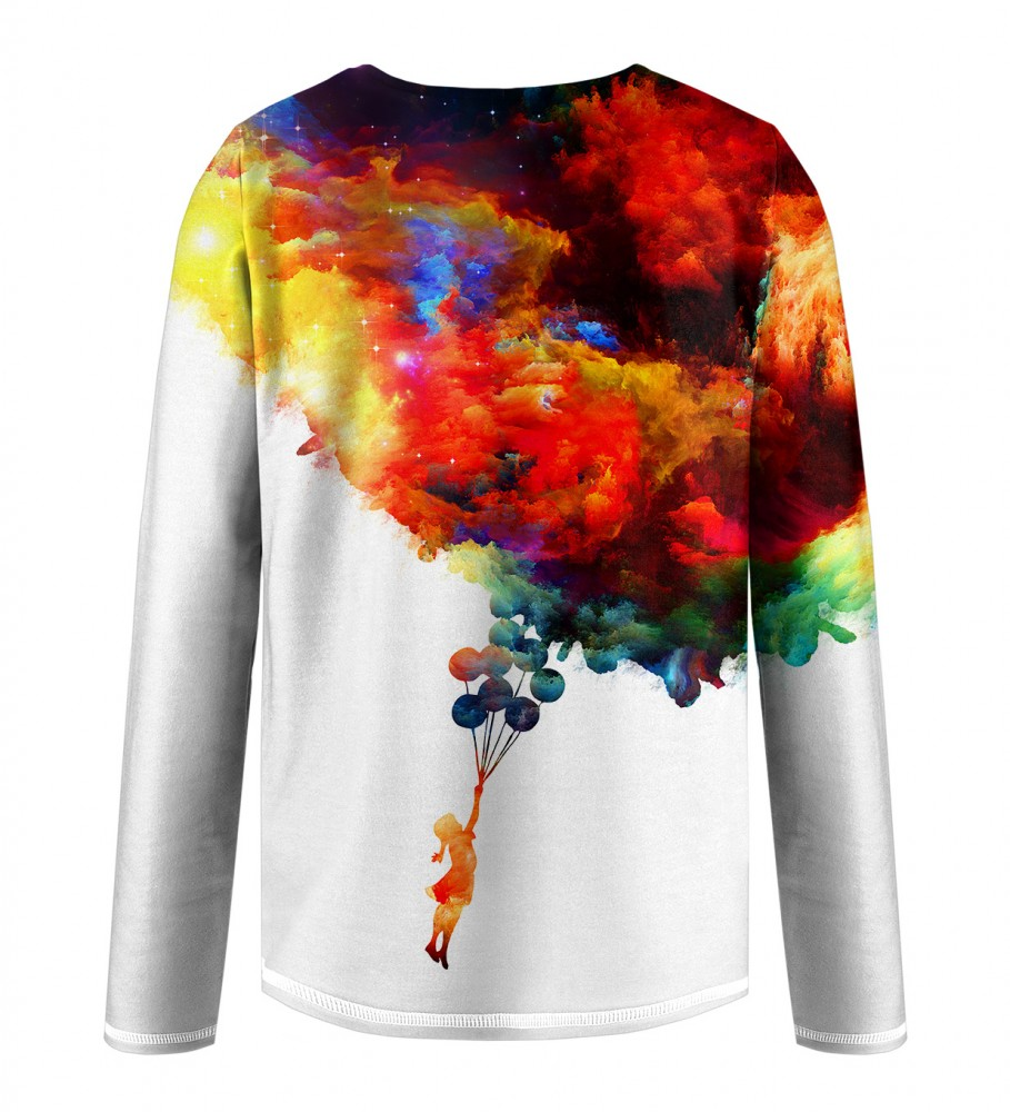 Mr. Gugu & Miss Go, With balloons to galaxy Kids Longsleeve Imagen $i