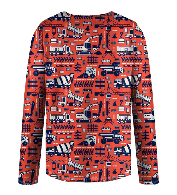Trucks Orange Pattern Kids Longsleeve аватар 2
