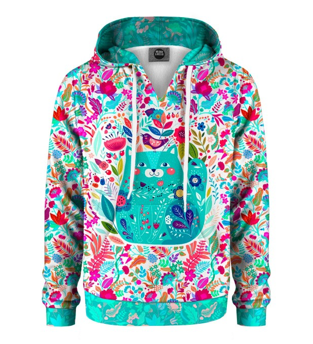 Flower Cat Kids Hoodie Miniature 1
