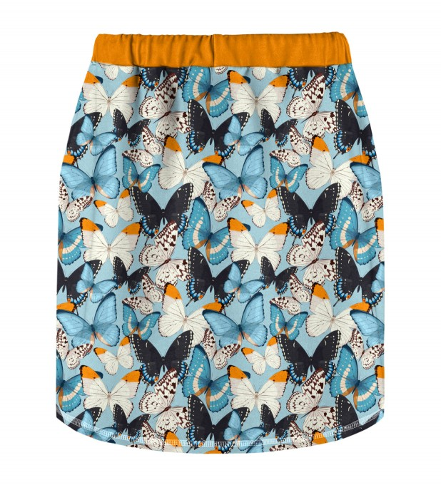 Blue Butterflies Skirt for kids Miniature 2