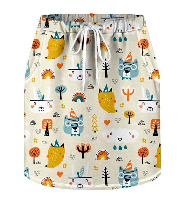 Camp Time Skirt for kids Miniature 1
