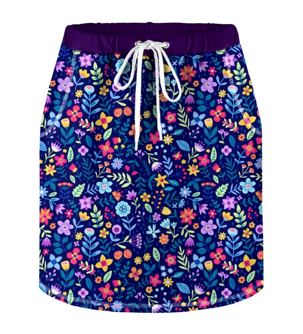 Midnight Flowers Skirt for kids Miniature 1