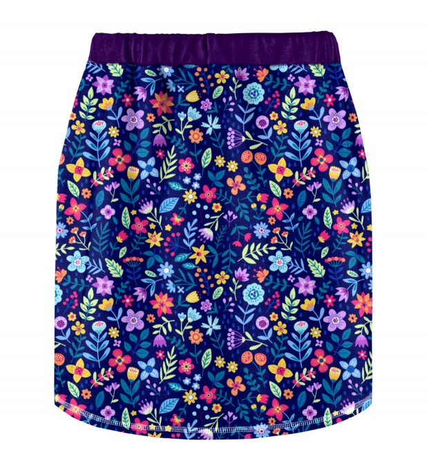 Midnight Flowers Skirt for kids Miniature 2