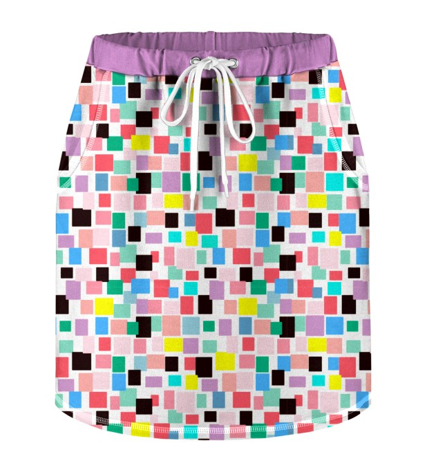 Rectangles Skirt for kids Miniature 1