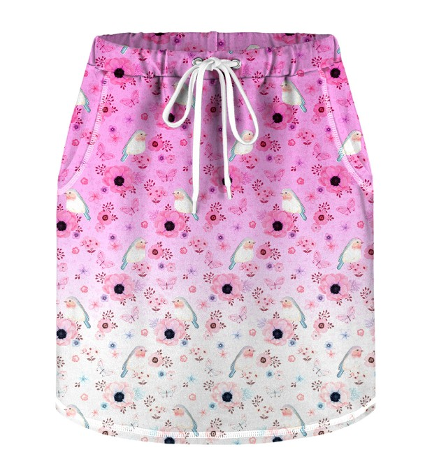 Robin Pattern Skirt for kids Miniature 1