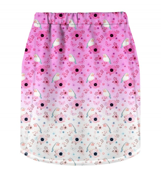 Robin Pattern Skirt for kids Miniature 2