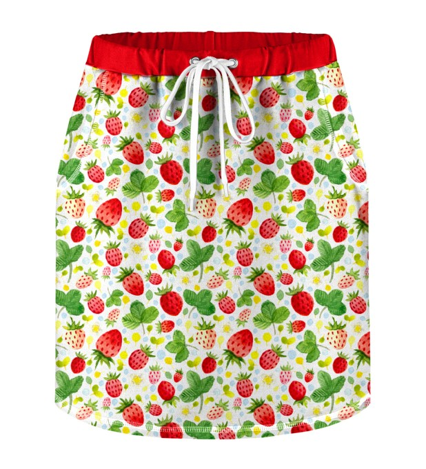 Strawberries Pattern Skirt for kids Miniature 1