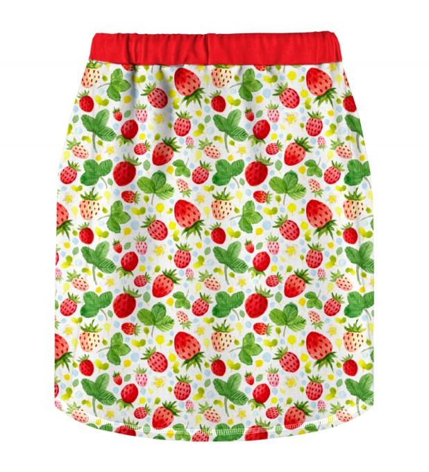 Strawberries Pattern Skirt for kids Miniature 2