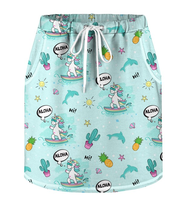 Surfing Unicorn Skirt for kids Miniature 1
