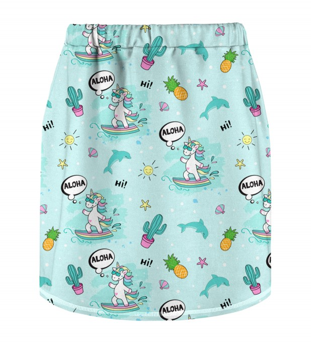 Surfing Unicorn Skirt for kids Miniature 2