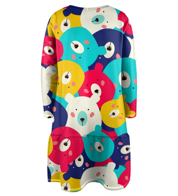 Colorful Bears Longsleevess dress for kids аватар 2