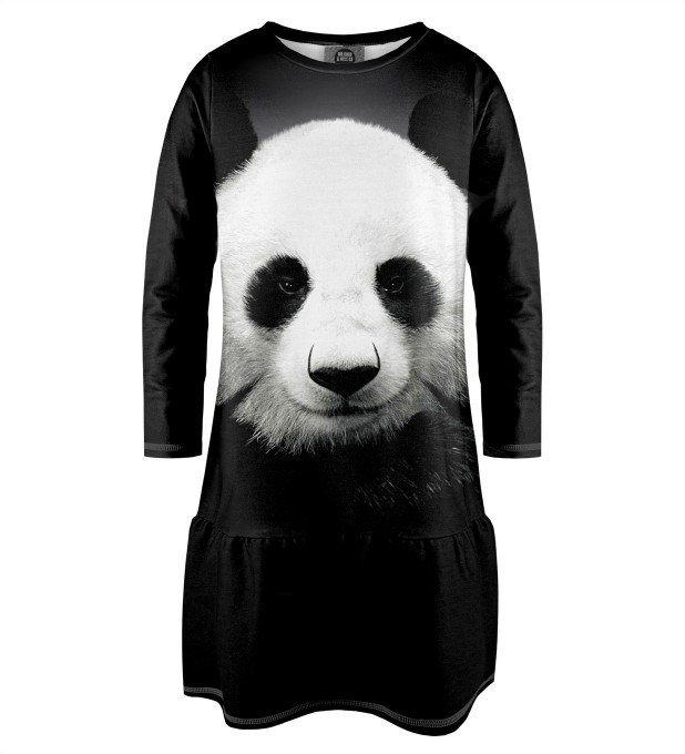 Panda Longsleevess dress for kids Miniature 1