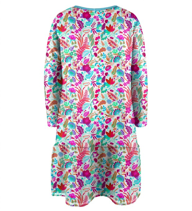 Flower Cat Longsleevess dress for kids Thumbnail 2