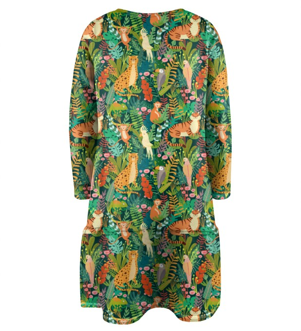 In the Jungle Longsleevess dress for kids Miniature 2