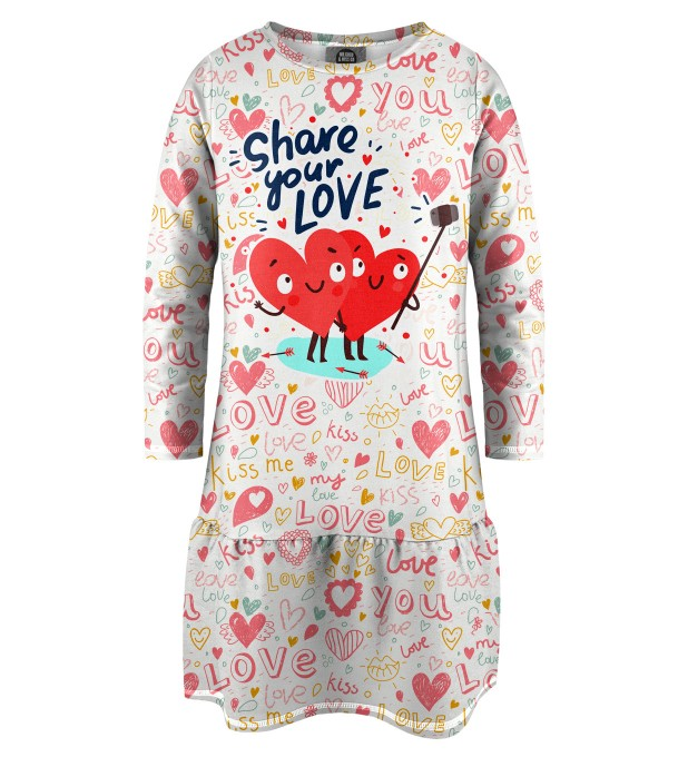 Love Selfie Longsleevess dress for kids Thumbnail 1