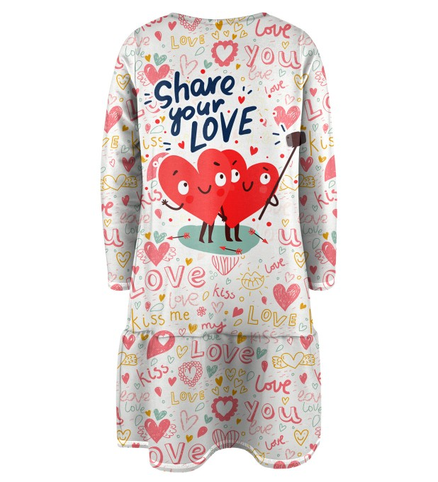Love Selfie Longsleevess dress for kids Miniature 2