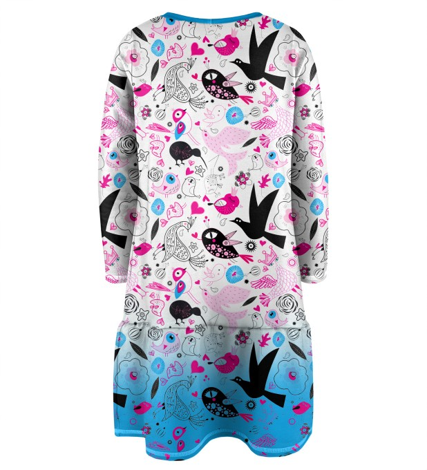 Sweet Birds Longsleevess dress for kids Miniature 2