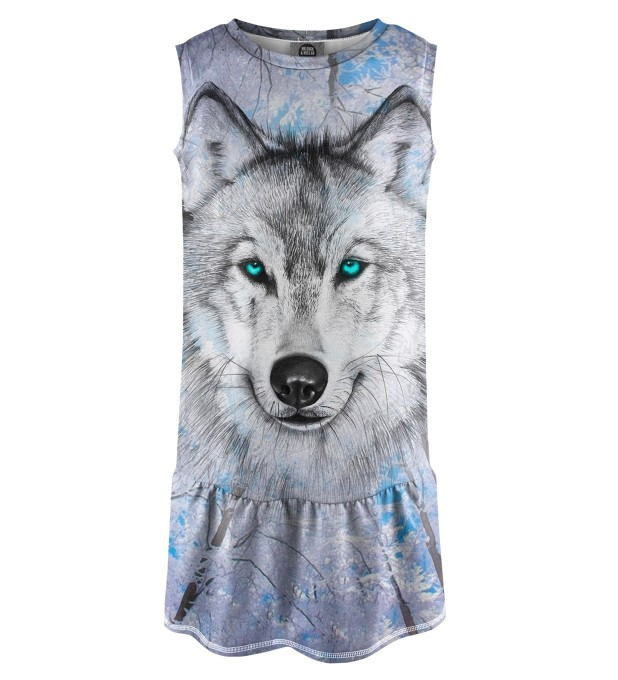 Wolves Sleeveless dress for kids Miniature 1