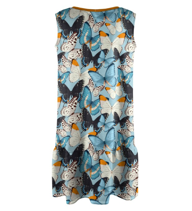 Blue Butterflies Sleeveless dress for kids Miniature 2