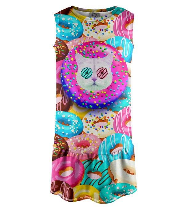 Donut Cat Sleeveless dress for kids Miniature 1