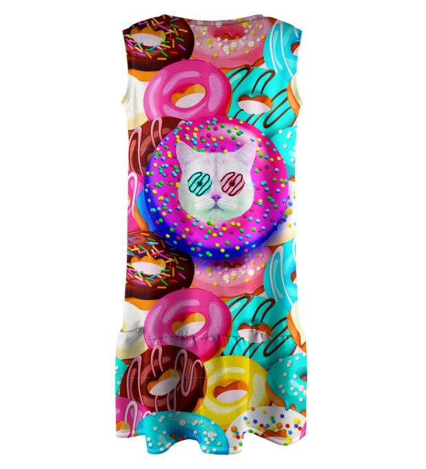 Donut Cat Sleeveless dress for kids Thumbnail 2