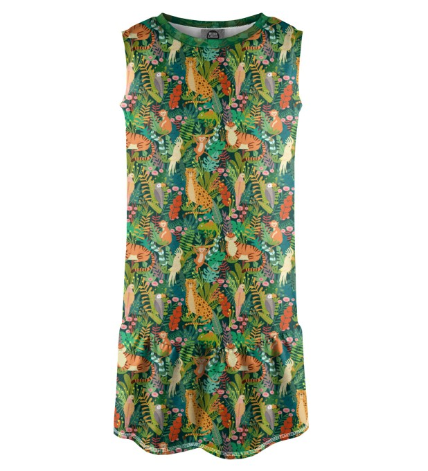 In the Jungle Sleeveless dress for kids Miniature 1