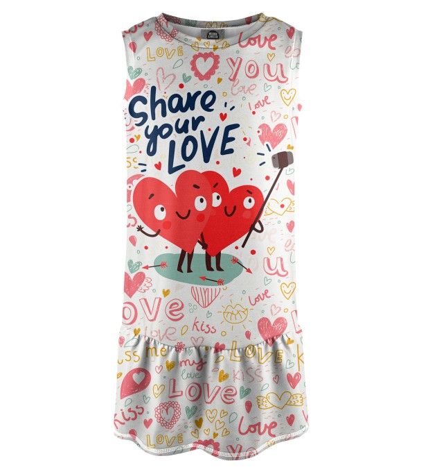 Love Selfie Sleeveless dress for kids Thumbnail 1