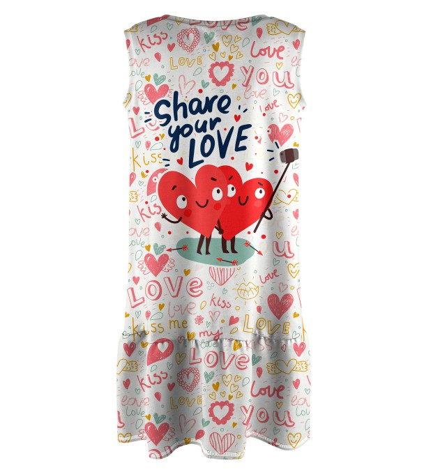 Love Selfie Sleeveless dress for kids Miniature 2