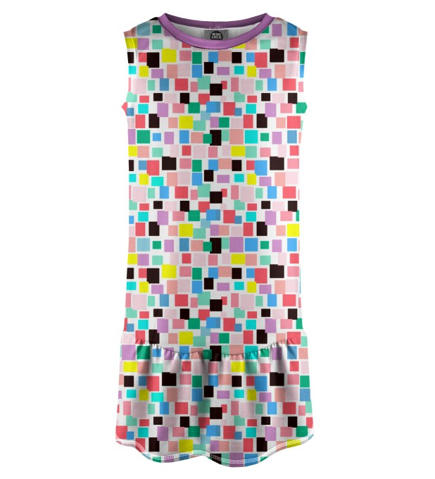 Rectangles Sleeveless dress for kids Thumbnail 1