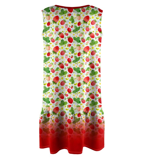 Strawberries Pattern Sleeveless dress for kids Miniature 2