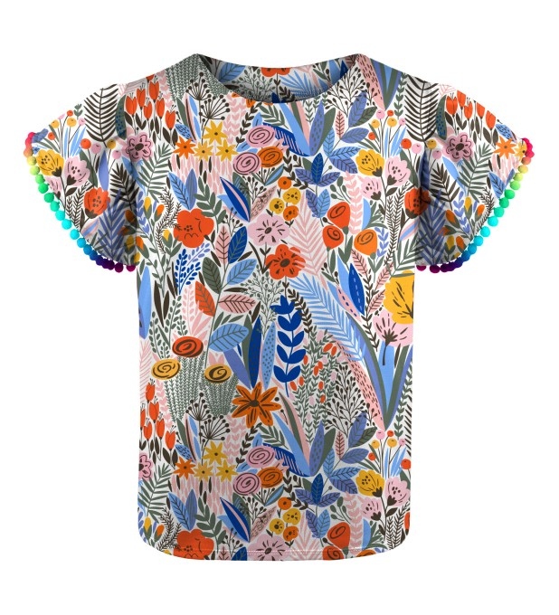 Floral pattern Girls Top Thumbnail 1
