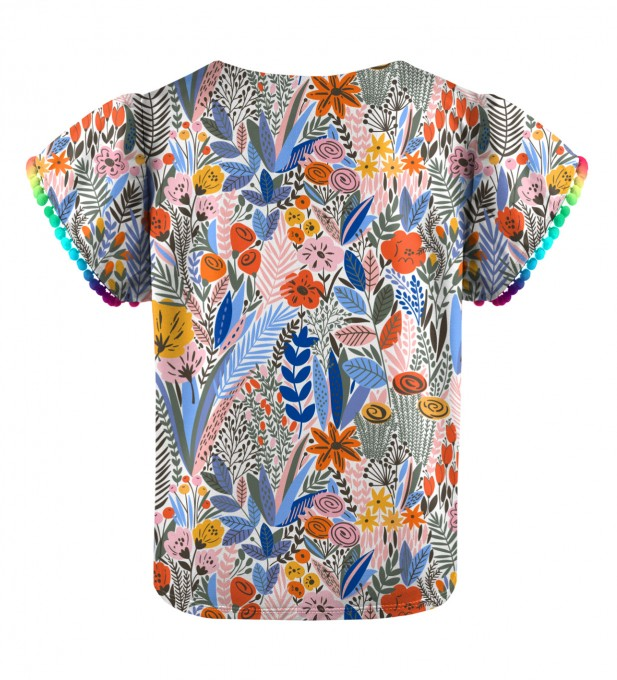 Floral pattern Girls Top Thumbnail 2