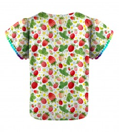 Mr. Gugu & Miss Go, Strawberries Pattern Mädchen Top Miniaturbild $i