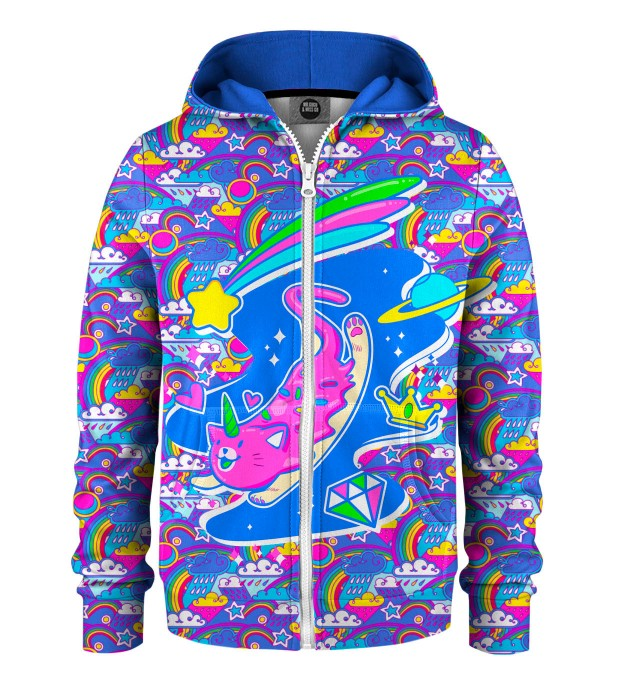 Caticorn Kids Zip Up Hoodie Miniature 1