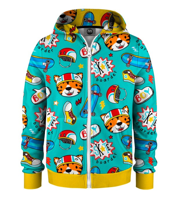Skate Tiger Kids Zip Up Hoodie Miniatura 1