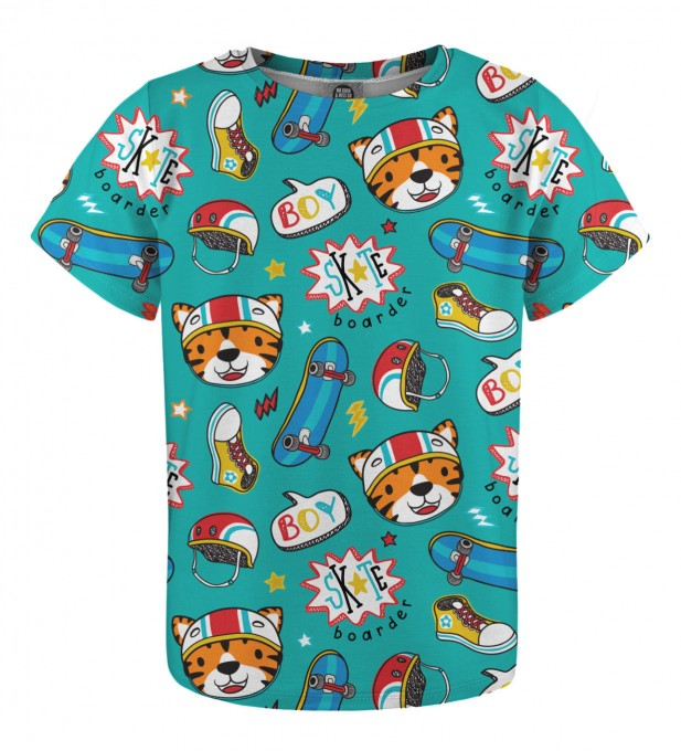 Skate Tiger t-shirt for kids Thumbnail 1