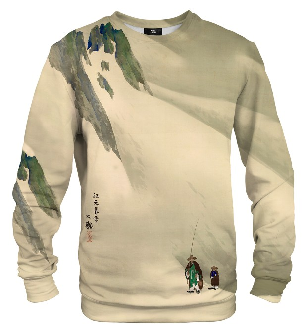 River Sky in Evening Snow sweatshirt Miniaturbild 1