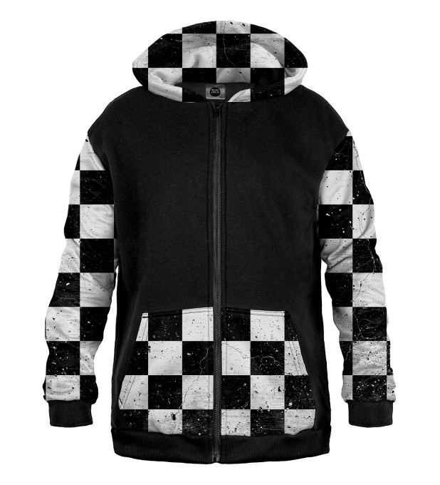 Chequered pattern Cotton Zip Up Hoodie аватар 1