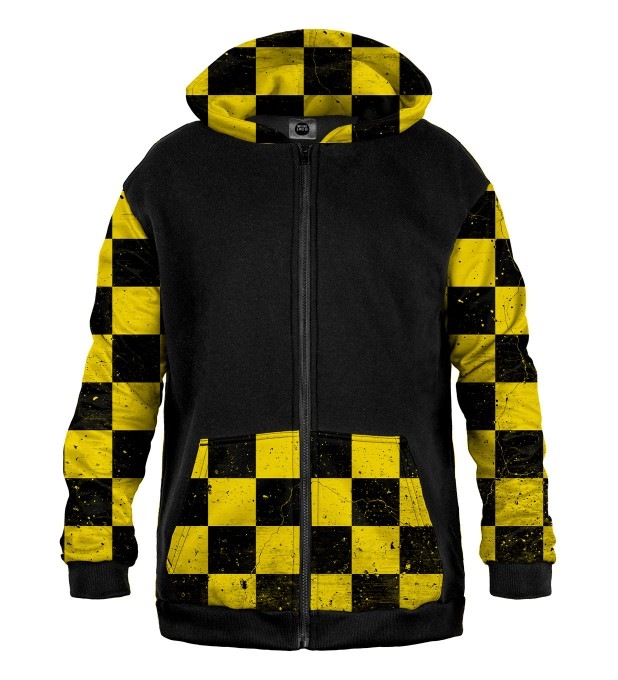 Chequered yellow pattern Cotton Zip Up Hoodie аватар 1