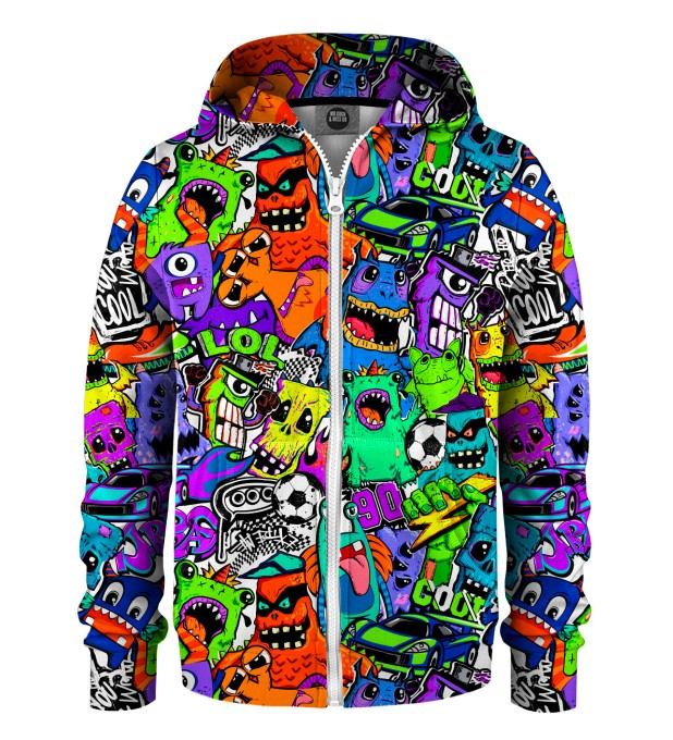 Colorful Monsters Kids Zip Up Hoodie Miniatura 1