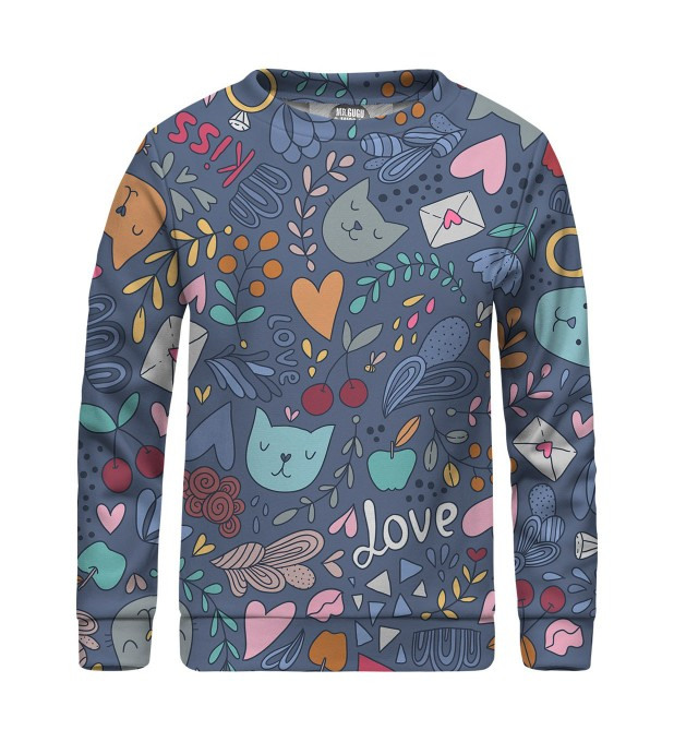 Romantic Cats sweater for kids Thumbnail 1