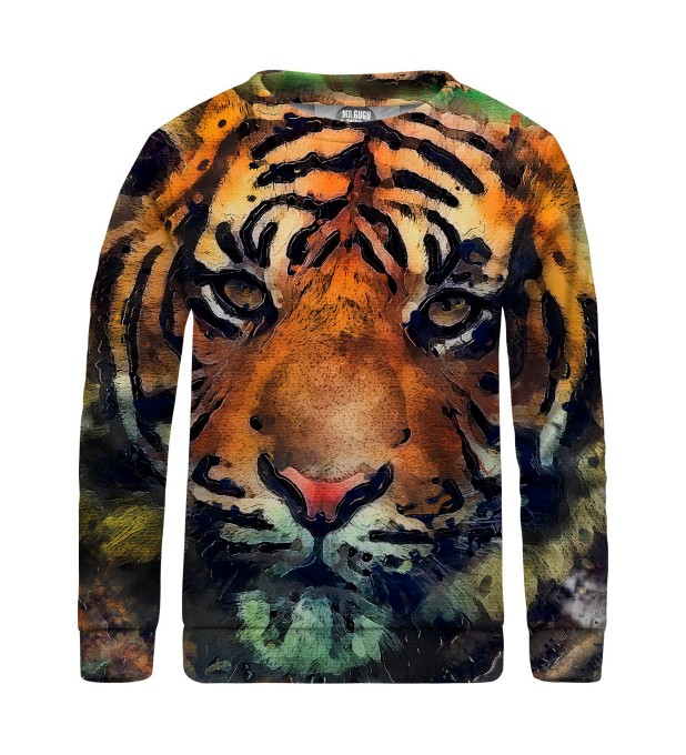 Aquarelle Tiger sweater for kids Miniature 1