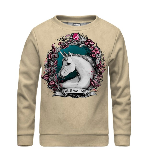 Unicorn portrait sweater for kids Miniature 1