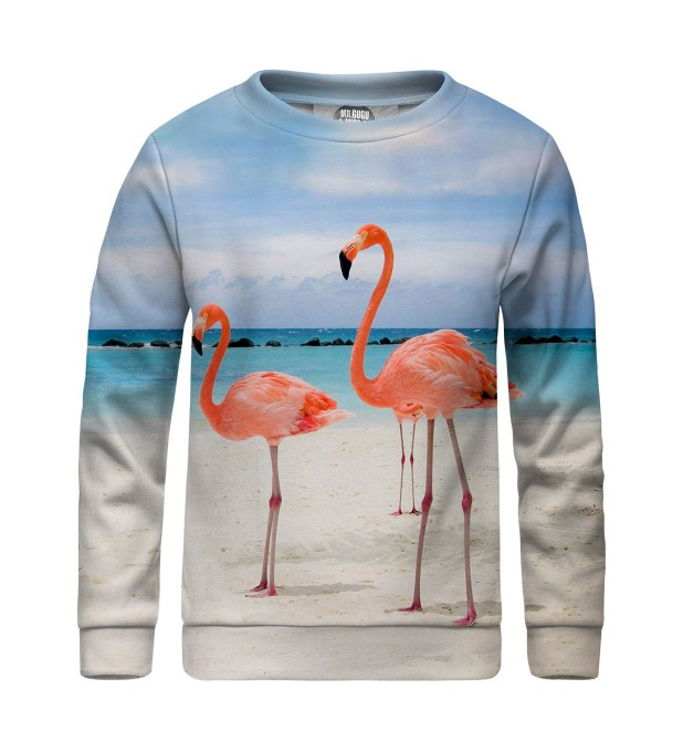 Flamingos on the beach sweater for kids Miniature 1