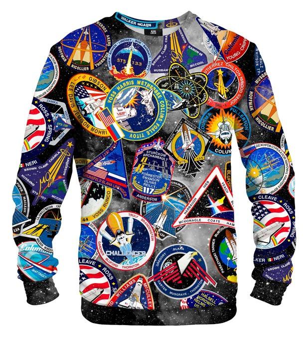 Black Nasa Stickers sweatshirt Miniaturbild 2
