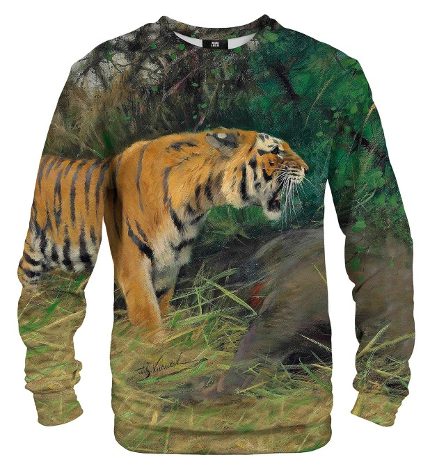 Tiger and its prey sweatshirt Miniaturbild 2
