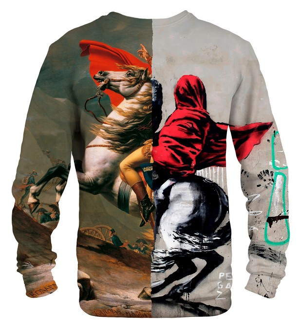 Napoleon Crossing Street Art sweater Thumbnail 1