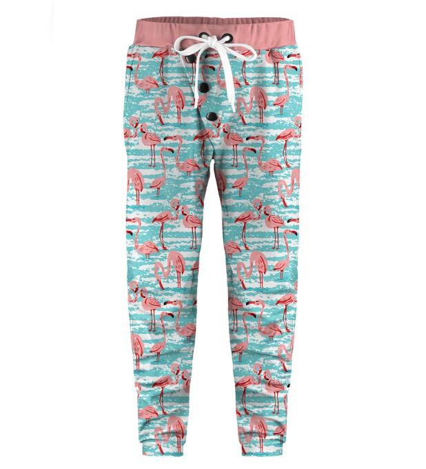 Flamingo Pattern Kids Joggers Thumbnail 1